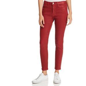 Frame Denim Jeans - Frame Le High Hunter Red Coated Skinny NWT $235